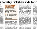 Rickshaw Ride for Charity
