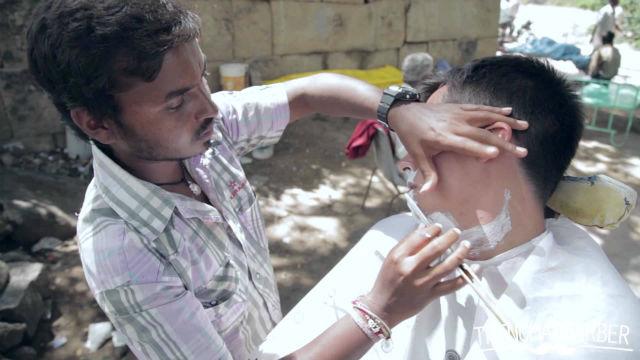 Indian Barber Shave