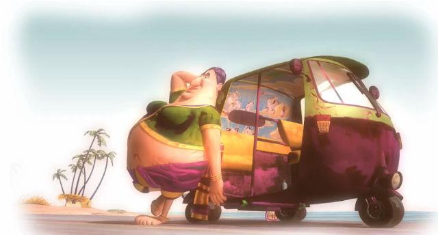 Fisherwoman Rickshaw