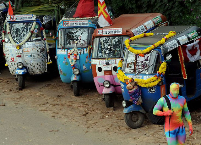 pimped rickshaws