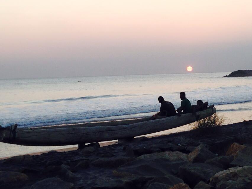 """""""Sunset at Kanyakumari"""" - photo by Mandy Ramsden from Team Hakuna Matatu."""