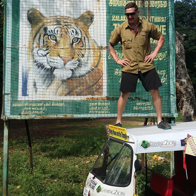 Trying to find tigers around the dam... still no tigers - photo by Rob Flanders from the Team Bob Billies.